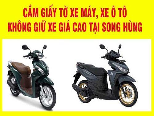 Ảnh: Công ty tài chính Song Hùng nhận cầm giấy tờ xe máy